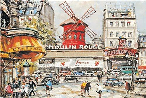 WLH- Volwassen 500/1000/1500 Piece houten puzzel Custom Children's Educatief speelgoed Gift wereldberoemde schilderij decoratief schilderen Moulin Rouge (Size : 1500pc)