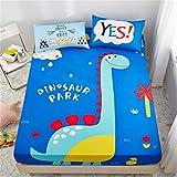 WFDDSD Muster Einzelstück Baumwolle Kinder Cartoon rutschfeste Bett Trampolin Abdeckung Baumwolle Dünne Pad Schutz Abdeckung J05 1.8X2.0(M)