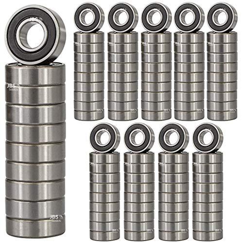 [ JBS basics ] Kugellager 100 Stück [ 608 ► 8 x 22 x 7 mm RS ] Metall Industrie Rillen Radial Lager Achse Welle Maschine 3d Drucker (608 ► 8 x 22 x 7 mm, 2RS, 100)
