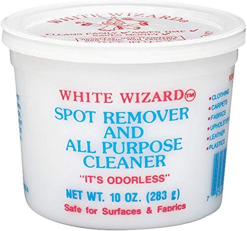 White Wizard Fleckentferner, geruchslose Reinigungspaste, entfernt Fett, Kaffee, Tee, Ketchup u.v.m. (1 x 283g)
