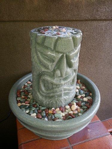 Angry Tiki Fountain (Green Granite)