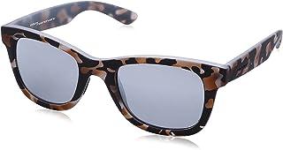 نظارة شمس بعدسات شبه مربعة وشنبر منقوش للنساء من ايطاليا انديبندنت - رمادي