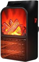 YAMMY Fuego eléctrico, calefacción de cerámica PTC, Estufa de Fuego simulado Efecto de Llama 3D Chimenea Independiente Que Quema luz LED Temperatura Ajustable (Fuego)