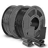 SUNLU PETG 3D Printer Filament, 3D Printing PETG Filament 1.75 mm, Strong 3D Filament, 2 KG(4.4lbs), Black+Grey