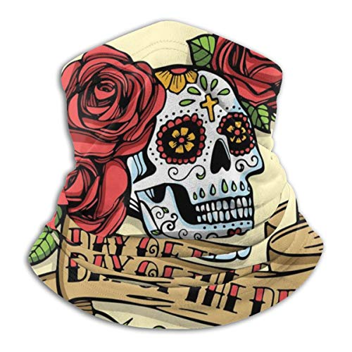 Uosliks Sciarpa al Collo Disegnata a Mano Giorno Dead Mexican Sugar 26cm X 30cm Copricapo Copricapo Sport Fascia per Tubo Sweatband