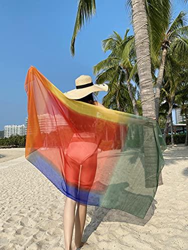 Eantpure Bufanda con Diadema,Bufanda-6 de la Toalla de Playa del Protector Solar del Turismo de la Pendiente (180 * 90cm),Bufanda de Invierno