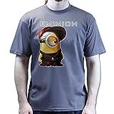ABTM -  T-Shirt - Collo a U - Uomo Grigio Scuro XL
