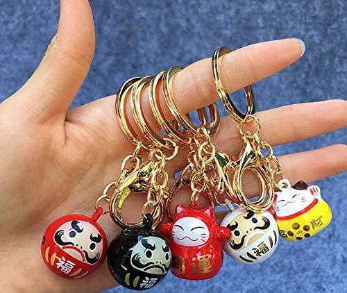 YPTkxgj Ty-174 Schlüsselanhänger mit Katzenglöckchen, japanisches Anime-Motiv, 10 Stück