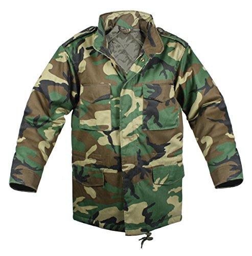 Rothco Kids M-65 Field Jacket W/Liner - Woodland, Medium