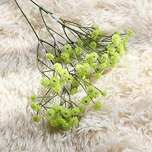 Silk Flower Arrangements XIDA 90 Heads 65cm Artificial Flowers False Baby's Breath Gypsophila Wedding Decoration Birthday DIY Photo Props Flower Heads Branch (Green)