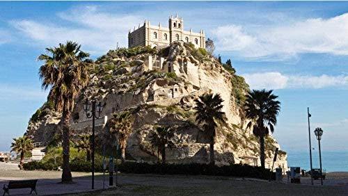 XINNeck 1000 pièces,Puzzles en Bois Jouetspuzzle Tropea Castle Visualizza Puzzle in Legno per i più Piccoli