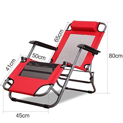 Chaise longue YNN Chaise Pliante de Jardin Portable de Loisirs pour l'été (Couleur : C, Taille : 80cm)