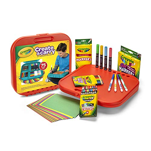 Crayola Create 'N Carry Art Set, 75 Pieces, Art Gift for...