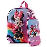 Zaino Minnie Bambini YUESEN Zaino scuola 3D con Minnie Mouse rosa Zaino per scuola materna Astuccio per ragazze Accessori per la scuola Merchandise Regali per bambini Ideale per gite scolastiche