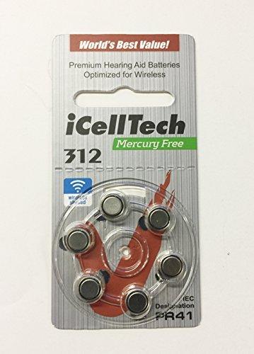 Preisvergleich Produktbild iCellTech Hörgeräte Batterien Größe 312 60 Batterien