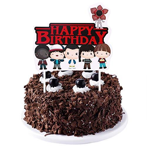 LVEUD Stranger Things Demogorgon Open face Cake Topper - Party Supplies for Children