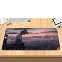 Wrapped large gaming mouse pad Ghost knife princess mouse pad, desktop computer keyboard and laptop gaming anti-skid pad-B_600*300*3