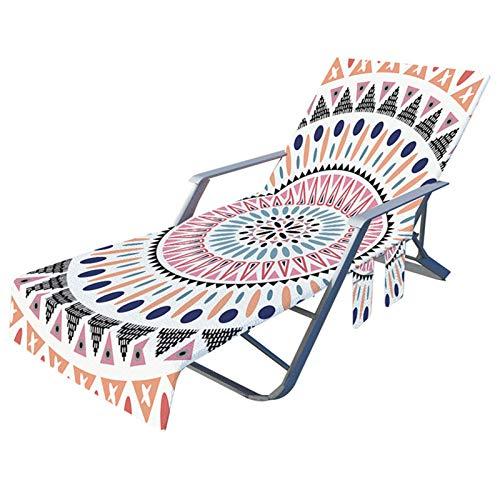 Strandkorbbezug mit Seitentaschen Mikrofaser Pool Lounge Chaiselongue für Lounger Hotel No Sliding 82,6 * 28,7 Zoll