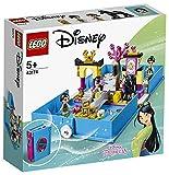 LEGO Disney Princess, Les aventures de Mulan dans un livre de contes avec figurine Khan le cheval,...