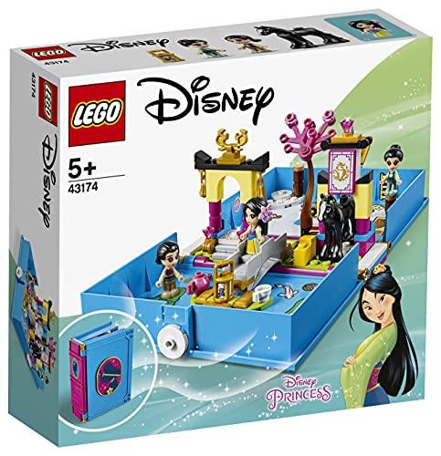 LEGO Disney Princess - Cuentos e Historias: Mulán Juguete Libro Personalizable con Pegatinas que se Abre de Juguete de la Película, Incluye a Muñeca Mulán, Li Shang, Grillo y el Caballo Khan (43174)