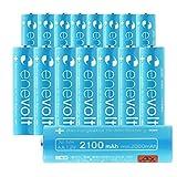 エネボルト(enevolt) 単3 充電池 2100mAh 大容量 ニッケル水素充電池 自然放電軽減 充電 電池 16本セット