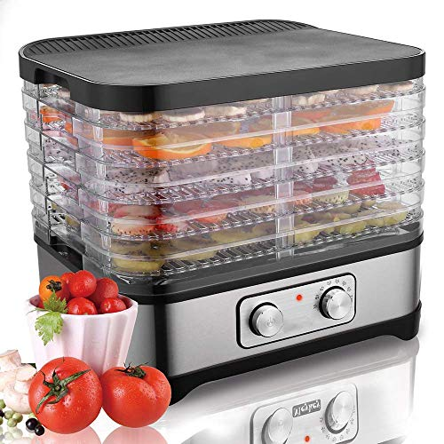 5 Tray Electric Food Dehydrator, Fruit Meat Dryer, Digital Dehydrator, With Temperature Controller 35-70°C, BPA Free, For Jerky, Meat, Beef, Fruit, Vegetable