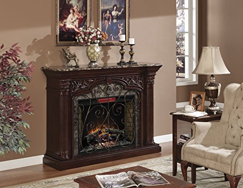 ClassicFlame Astoria Wall Fireplace Mantel, Empire Cherry (Electric Fireplace Insert sold separately)