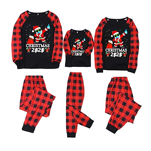 2020 Merry Christmas Matching Family Pajamas Sets PJs Holiday Home Xmas Family Sleepwear (2020 Plaids 2, Kids 12T)