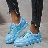 LYYJF Mujer Zapatos Suave Calzado Informal Cómodo Calzado De Conducción Zapatos de Plataforma Retro Zapatos Casuales,Lake Blue,35