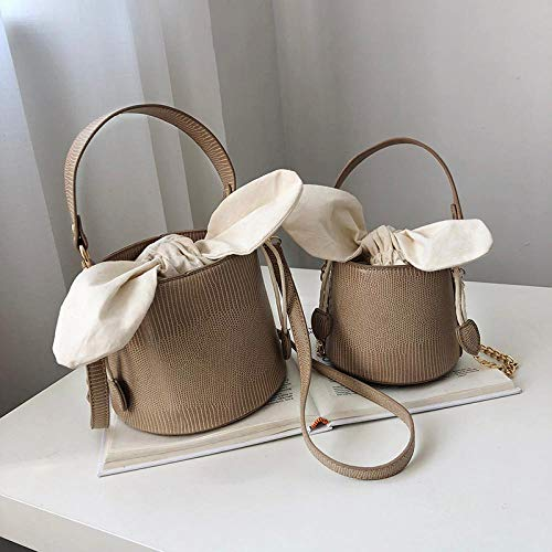 Frauentasche Stein Beuteltasche Elegante Weibliche Handtasche Hochwertige Leder Dame Designer Handtasche Kette Schulter Umhängetasche Smallkhaki