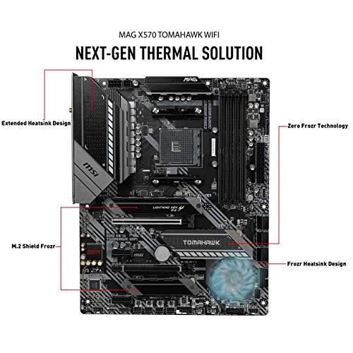 MSI X570 TOMAHAWK WIFI Scheda madre Gaming, Socket AMD AM4 DDR4 M.2 USB 3.2 Gen 2 Wi-Fi 6 HDMI ATX