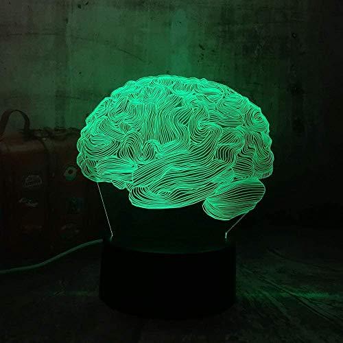 Night Light Kids 3D Lamp 7 Color Color Light Goldfish 3D Led Mesa Lámpara de escritorio...