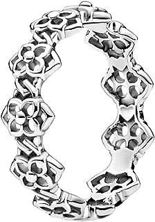 PANDORA Rose Petals Band 925 Sterling Silver Ring