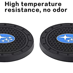 Suitable for 99% car models 2.75 inches in diameter and 0.2 inches thick (please make a good rule, thank you) Made of silicone material, easy to clean and arrange, with anti-slip and dust-proof function Logo design for car coasters and anywhere Match...