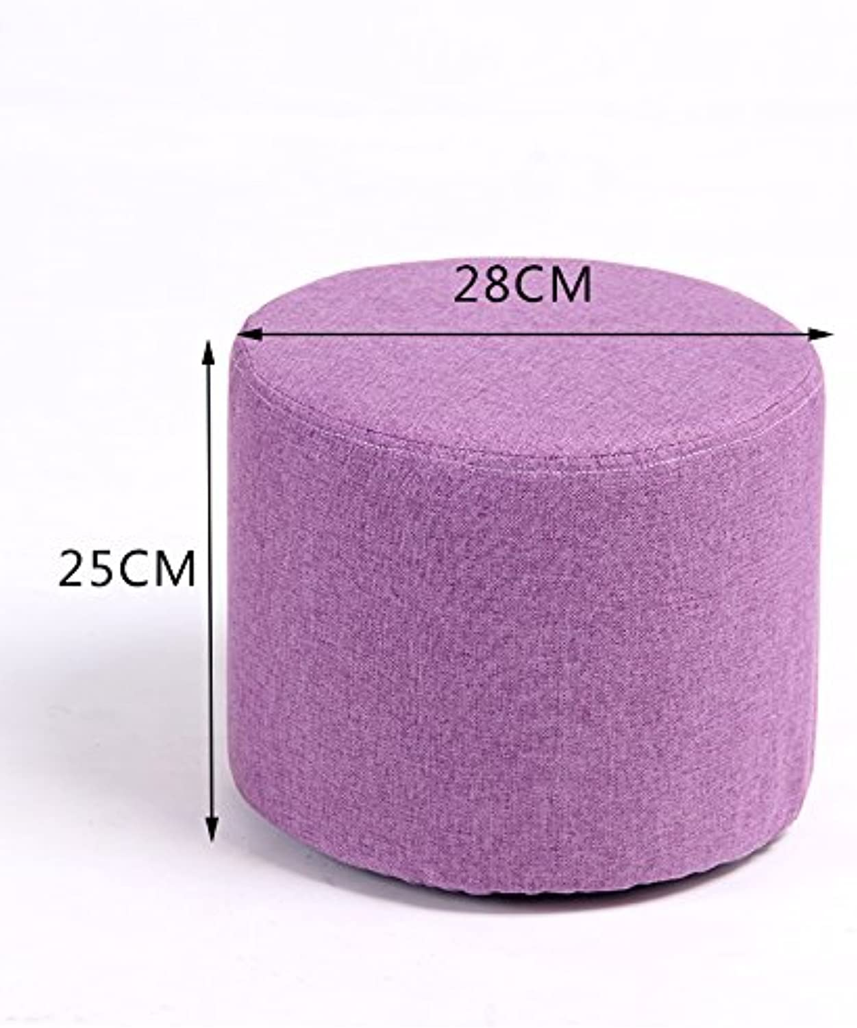 Dana Carrie Stool Stylish Ideas for shoes of Solid Wood Cloth Sofas stools Low stool Round stool wear shoes The Tea Small stools Benches sit Mounds of 25  28cm in Purple