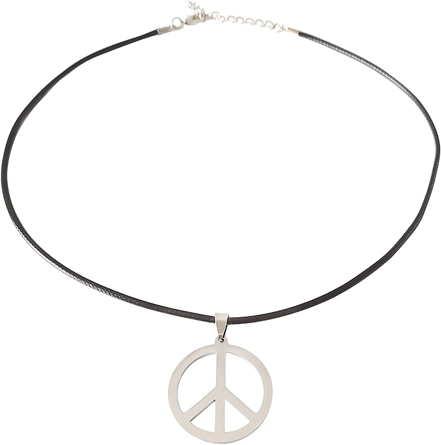 ROSTIVO Peace Sign Necklace Pendant for Men and Women Hippie Necklaces 60s 70s 80s 90s