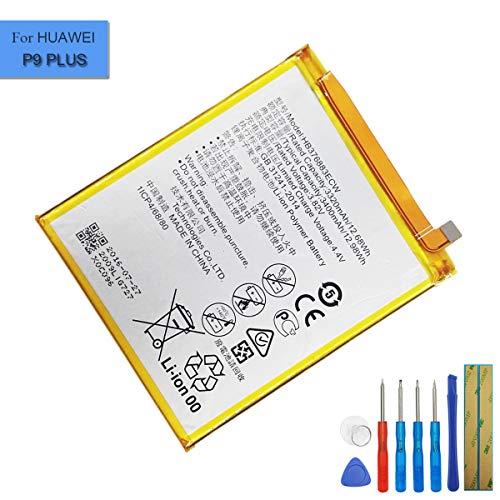 Batería de repuesto de iones de litio HB376883ECW, compatible con Huawei P9 Plus Ascend P9 Plus VIE-L09 VIE-L29 con herramientas