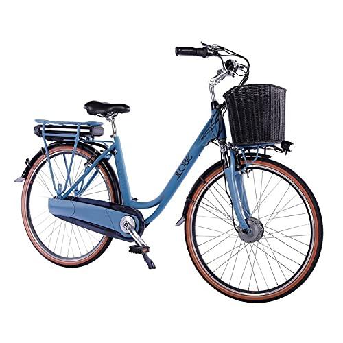 LLOBE City E-Bike Blue Motion 2.0, 28 Zoll, Akku 36V / 15.6Ah, 250 Watt Motor