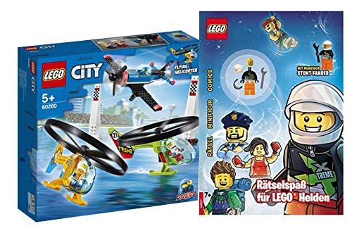 Collectix Lego - Set: Lego City 60260 Air Race + Rätselspaß für Lego Helden (Softcover)