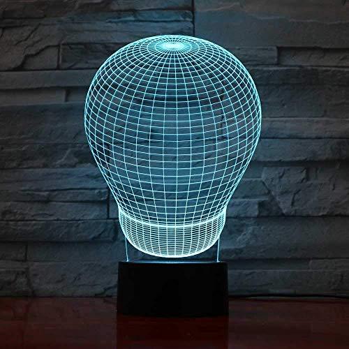 3D USB nieuwigheid 7 kleur veranderen tafellamp ballon lamp modelleren touch knop led sfeer nacht licht baby slaap licht geschenken