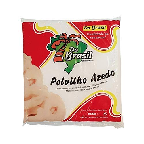 Do Brasil- Polvilho Azedo - Almidón Agrio - Harina de Mandioca - Directo de Brasil - 500 Gramos
