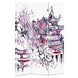 Feeby Frames Biombo Impreso sobre Lona, tabique Decorativo para Habitaciones, a una...