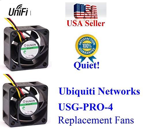 2X Quiet Version Fans for Ubiquiti Unifi Security Gateway Pro (USG-PRO-4) only 13~18dBA Noise Each Fan, Best for Home Networking!