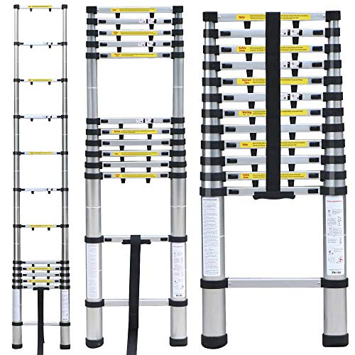 Extend Ladder 12 5 : Order now portable ′ aluminum telescoping extension