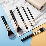 Miss Gorgeous Pinceles de Maquillaje con Pelo Sintético 6 piezas/Set Fácil para Ojos Brocha para la Fundación de la Cara para la Crema Líquida en Polvo