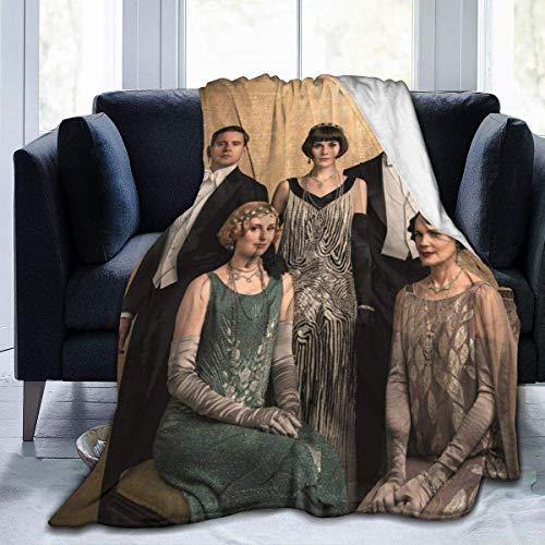 Do-wn-to-n Warm Ab-be-y Männer, Frauen und Kinder Ganzjährig Bettdecke werfen Leicht, Schwarz, 60 '' X50