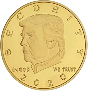 blinkee Donald Trump 2020 Border Wall Security Commemorative Gold Coin