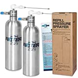 FIRSTINFO Stainless Steel Can Jet Dual Purpose Nozzle Brake Cleaner Fluid Sprayer Air/Pneumatic/Manual/Refillable Compressed Pressure Sprayer & Jet, Pack of 2