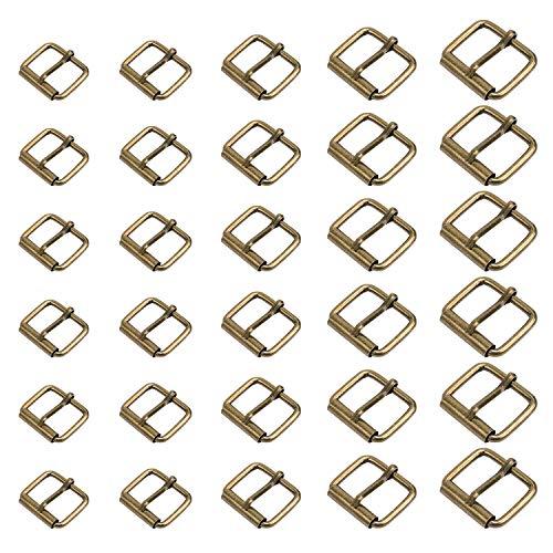 TsunNee - Hebillas de metal para 5 tamaños, 5 tamaños, hebillas para bolsos, correa de cuero, accesorios de mano, color bronce