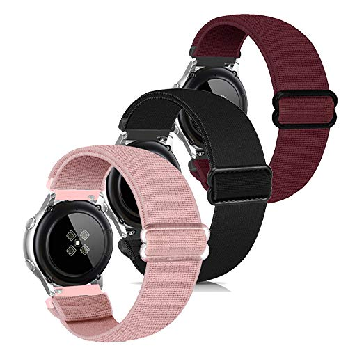 Zoholl Uhrenarmbänder Schnellwechsel Elastische Armbänder Ersatz Kompatibel mit Samsung Galaxy Watch 3 41mm/Galaxy 42mm/Aktiv 40mm/Huawei 2/Gear S2 Classic/Sport/Ticwatch 2 Männer Frauen(20mm)